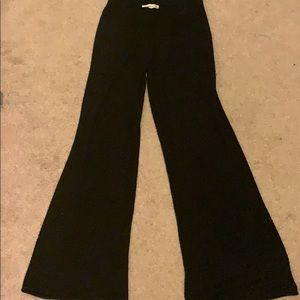 Black knit flare pants
